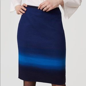 LOFT BNWT NWT Blue Pencil Skirt